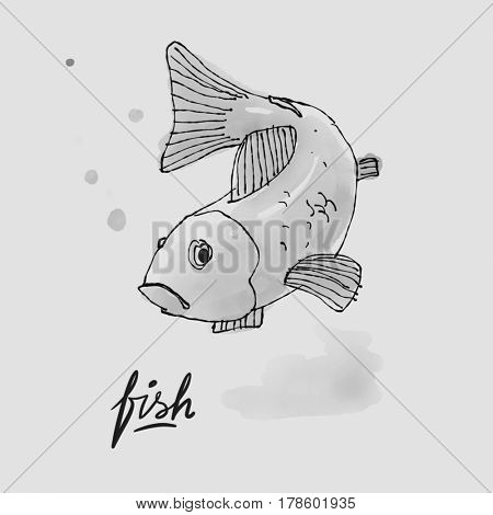 Fish Watercolor illustration