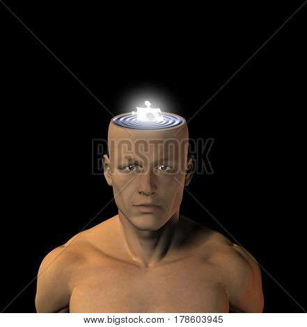 Human Mind  3D Rendering