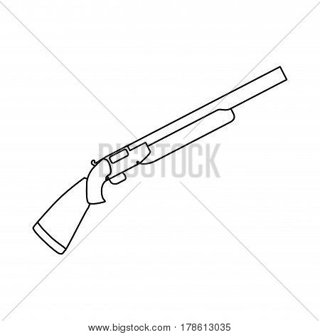 Isolated shotgun weapon vector illustration graphic design