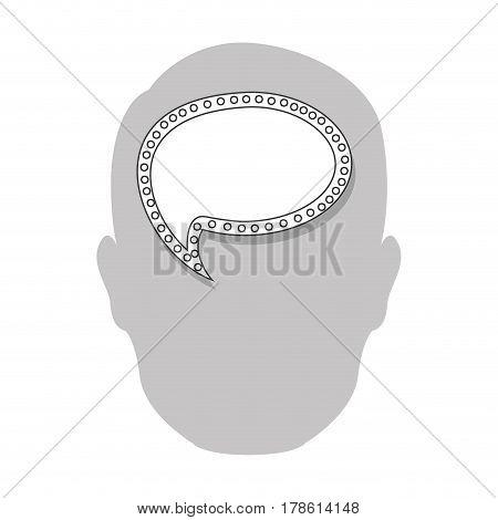 person with bubble brain icon, vector illustration design