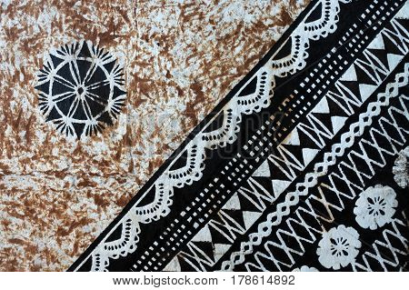 Background Of Traditional Pacific Island Tapa Cloth