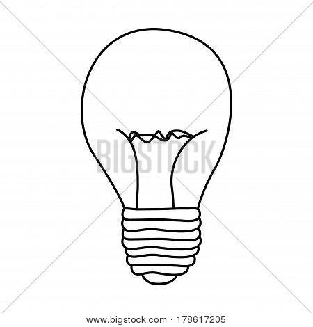 figure bulb power icon, vector illustration design
