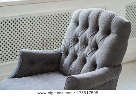 Photo texture of the sofa upholstery close-up