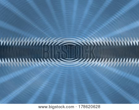 Botswana flag background with ripples and rays illustration