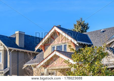 The top of the house or apartment building.