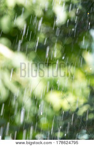 splashing water on nature. background . Photo texture
