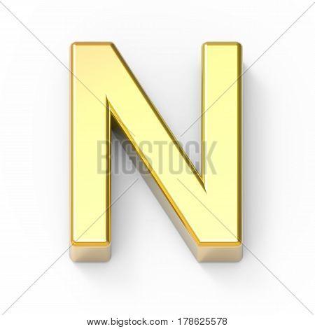 Matte Gold Font N