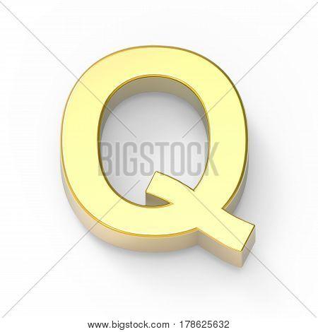 Matte Gold Font Q