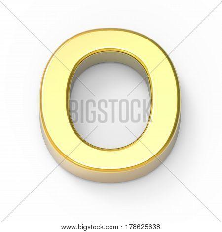 Matte Gold Font O
