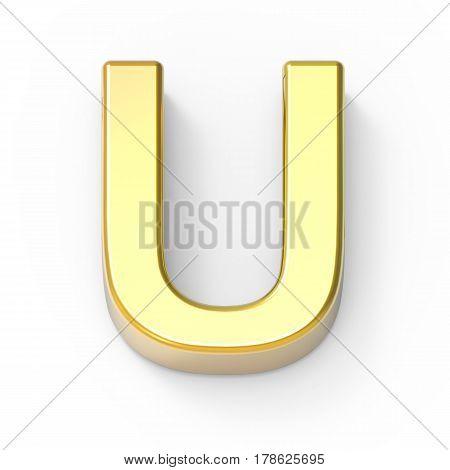 Matte Gold Font U
