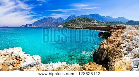 Crystal turquoise beaches of Greece - Crete island
