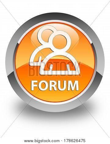 Forum (group Icon) Glossy Orange Round Button