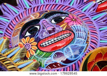 Sun Colorful Ceramic Handicraft