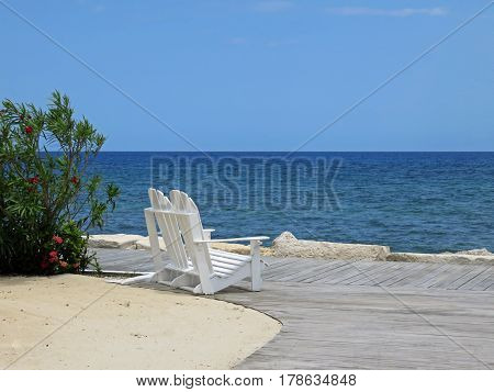 Beautiful and relaxing ocean view of Montego Bay Jamaica