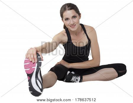 Woman Young Sport Isolated On A White