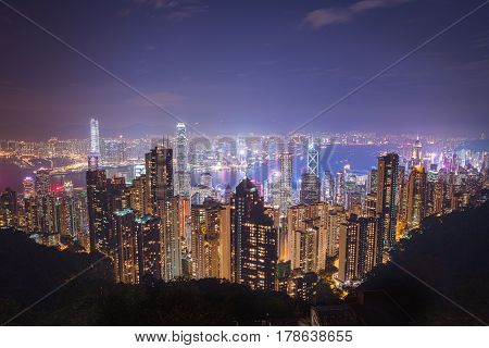 Landscape photo of the Hong Kong Skyline