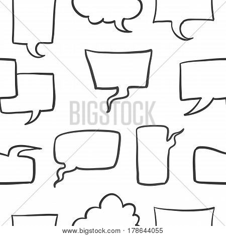 Doodle of text balloon stock collection vector art