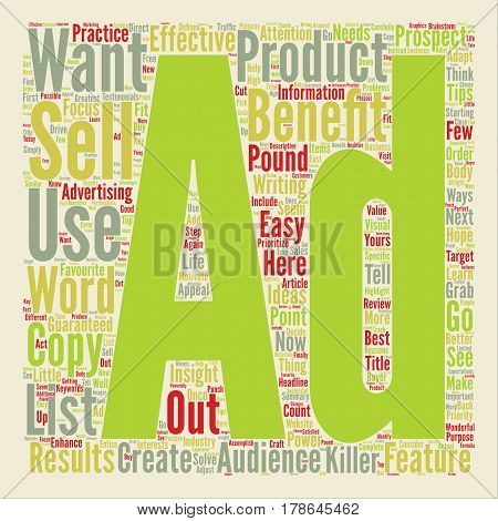 How To Pound Out Killer Ads That Get Results text background word cloud concept
