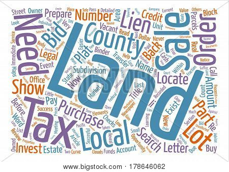 How to Prepare for a Land Tax Sale text background word cloud concept
