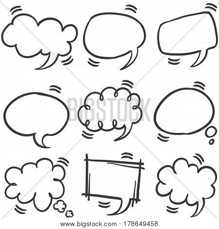 Style speech bubble collection stock vector illustration