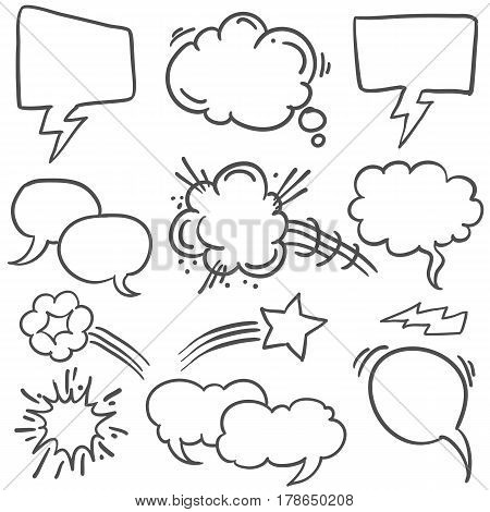 Collection stock of speech bubble style vector art