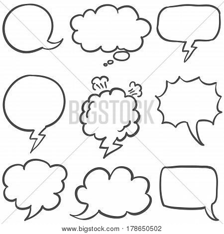 Set of text bubble collection stock vector illustration
