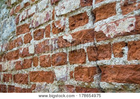 Abstract background with old a brick wall