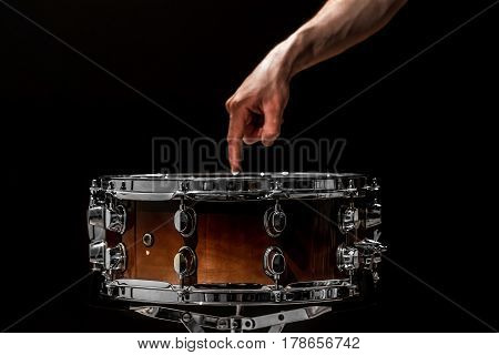 Snare On A Black Background, Musical Instrument