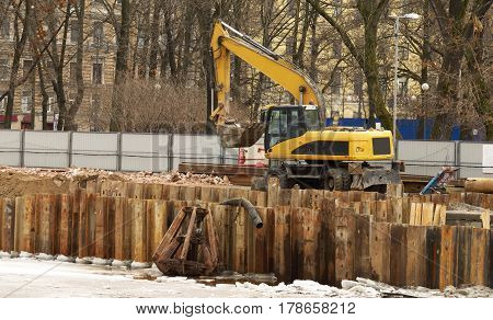 Carried out the reconstruction of the embankment on the river in the city.
