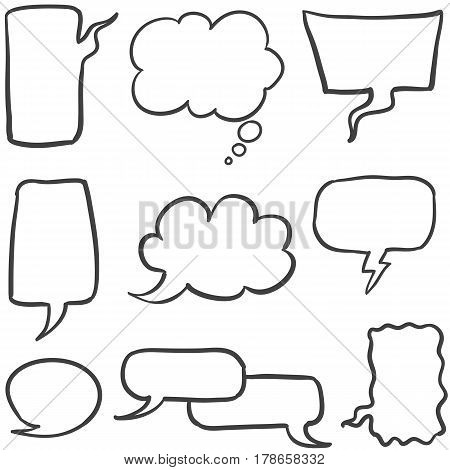 Collection stock of text balloon vector style