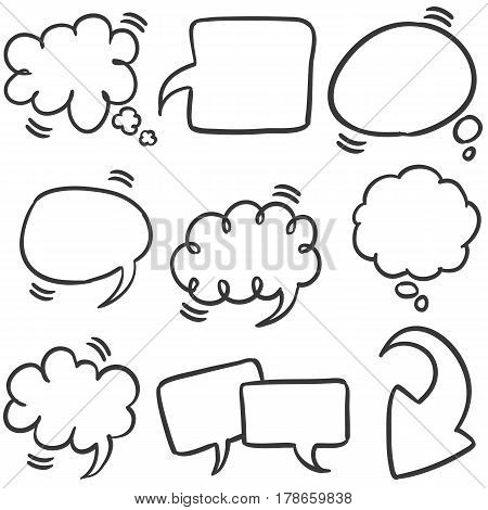 Collection stock of text bubble style vector illustration