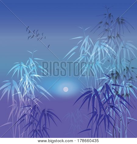 Bamboo Vector Background