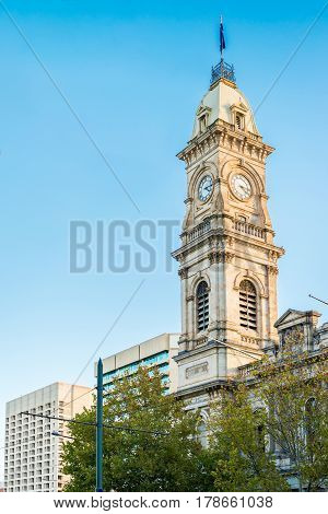 Adelaide GPO Post Shop with tower bell located at Victoria Square in Adelaide CBD