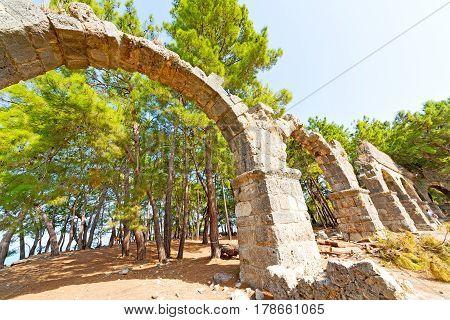 Phaselis Sea  Bush Gate  In  Myra  The     Asia Greece
