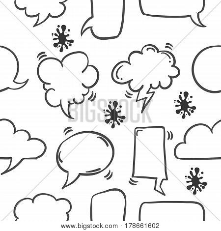 Collection stock of text balloon pattern vector art