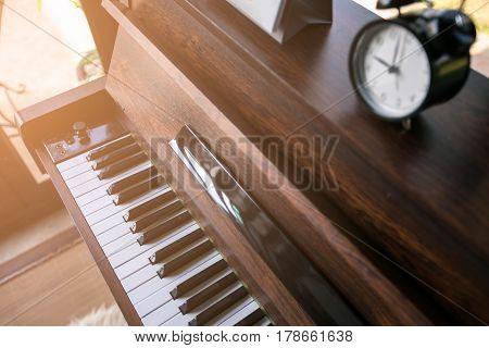 alarm clock on piano at Bangkok , Thailand