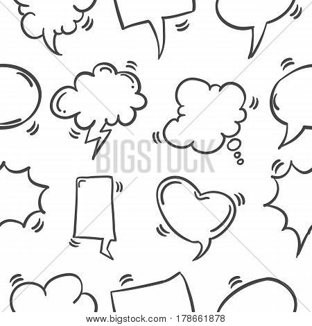 Pattern of text balloon collection stock vector illustration
