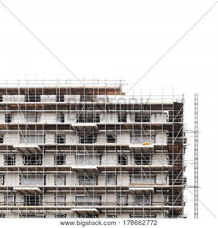 Modern Living House Made Of Gray Concrete