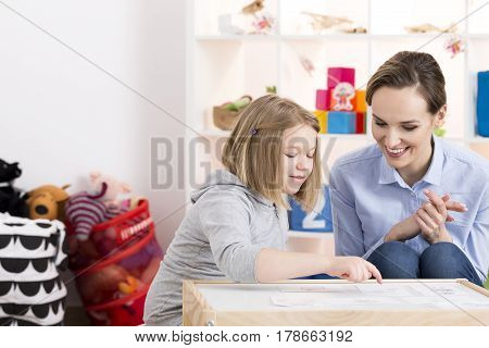 Girl Having Private Class