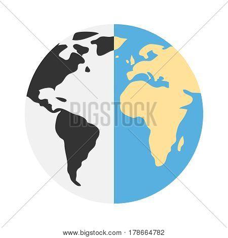 Planet Earth. Flat design vector illustration vector.