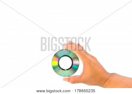 CD in hand, digital, disc, music, information