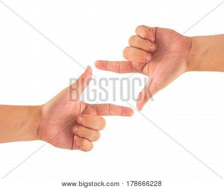 Finger Frame, concept, gesture, hand, symbol, sign