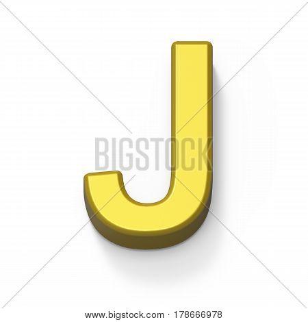 Matte Gold Font J