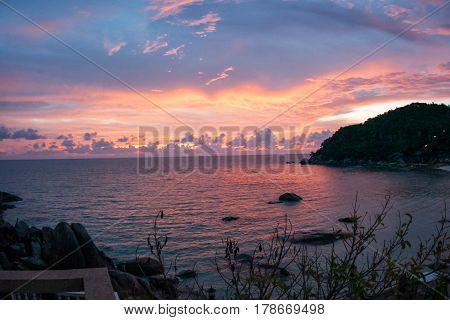 Sunsets And Sunrises At Cristal Bay, Samui, Thailand
