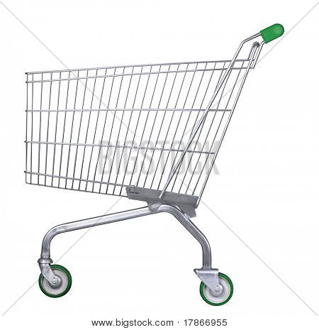 Isolated shopping car