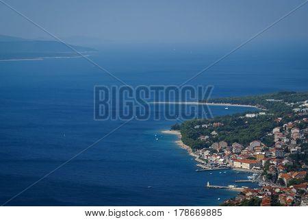 Beautiful seascape at Bol, Brac island  Groatia