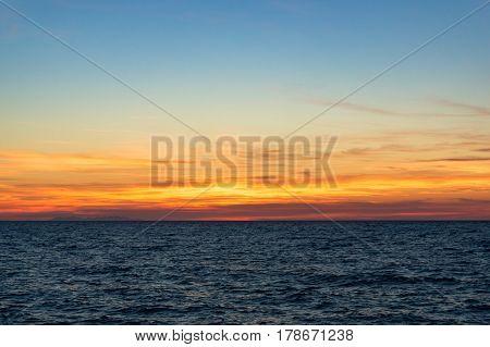 Sunset Landscape With Sea. Seascape