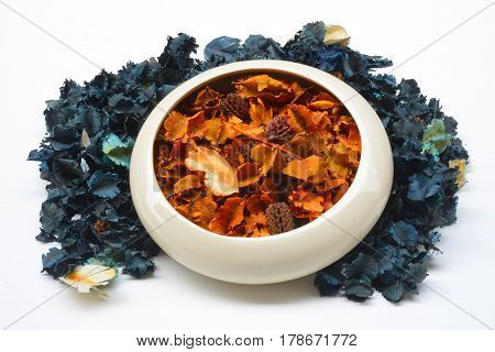 Potpourri dried plants and flowers for aromatherapy