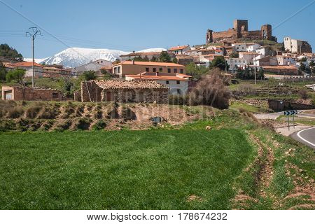Landscape With Ruins Of A Castle At Trasmos, Aragon, Spain