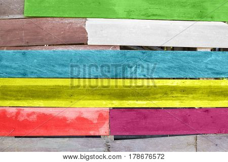 Colorful Wood plank with texture background for decorated.